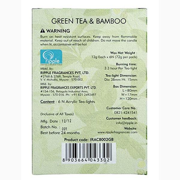 Green Tea and Bamboo Aroma Tea light(Acrylic)