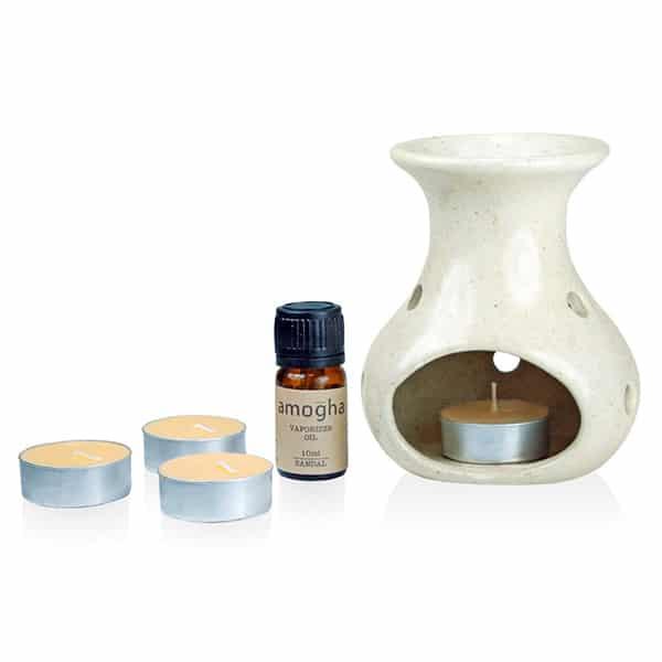 Iris Sandal Fragrance Vaporizer Oil with Burner