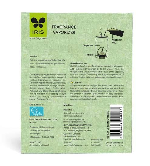 Iris Jasmine Fragrance Vaporizer Oil with Burner