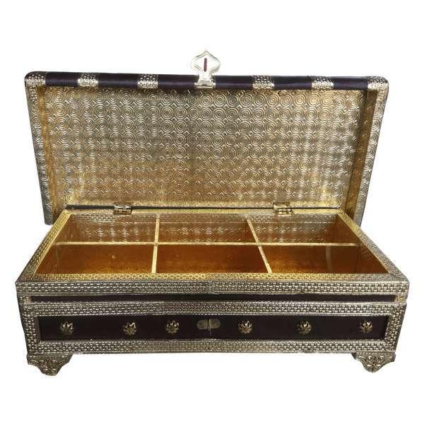 Pitari Antique Rexin Dry Fruit Box