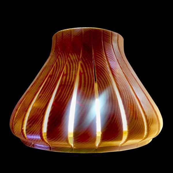 Bell Shape Wooden Wall Light