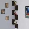 Wooden Zigzag Corner Wall Shelf