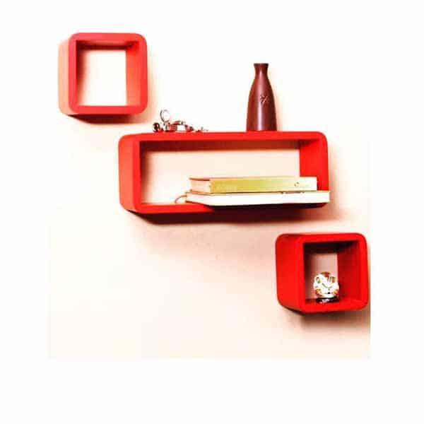 Cube shape Floating Wall Shelves Set of 3
