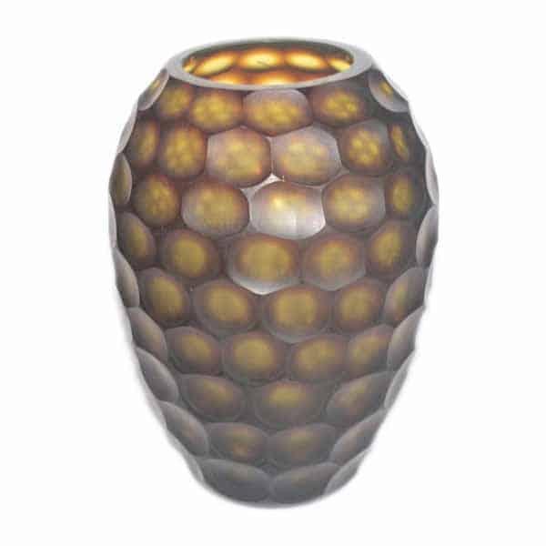 Hive Shape Decorative Glass Vase