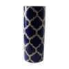 Hand-Painted Cylindrical Ceramic Flower Vase