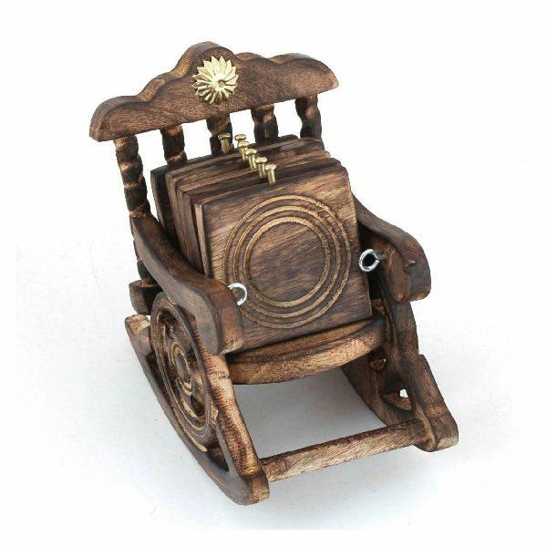 Wooden Chair Tea Coaster