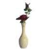 White Wooden Vase for Artificial Flower.