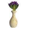 Wooden Vase for Artificial Flower (white)