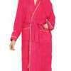 Celestial Pure Cotton Bathrobe(Pink, Standard)