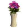 White Wooden Vase for Artificial Flower