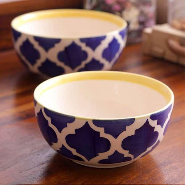 Hand Painted Ceramic Cereal Bowl (Medium)
