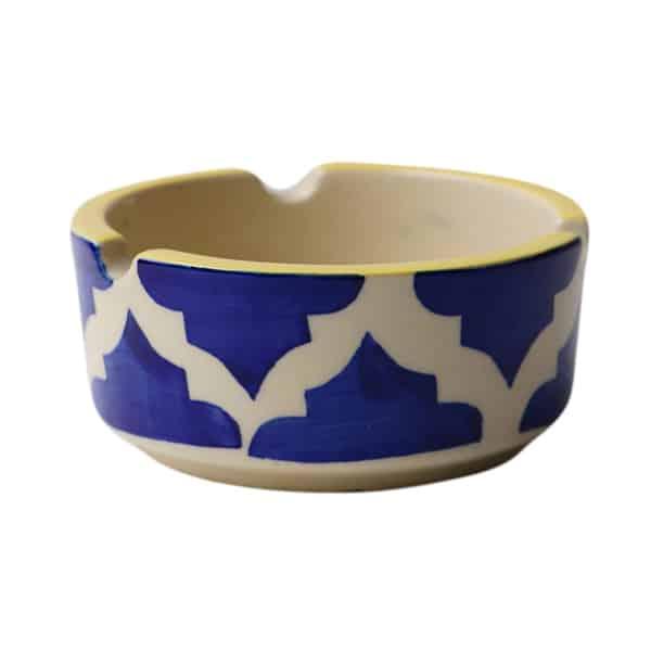 Ceramic Hand Painted Ashtray, Blue