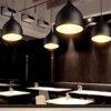 Downward Wine Glass Shape Black Hanging Light