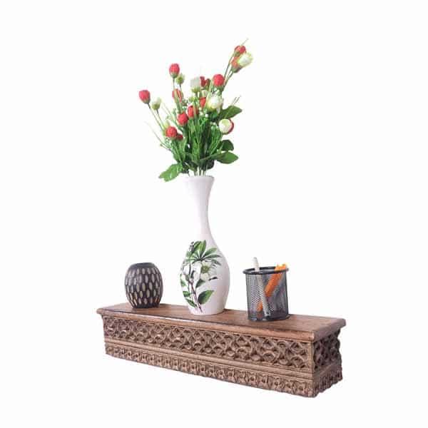 Decorative Wooden Wall Mounted Shelf