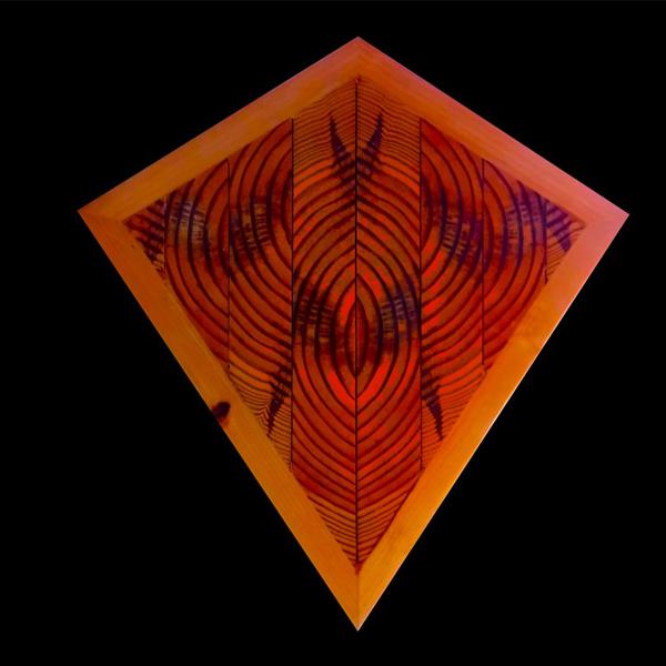 Kite Shape Wooden Wall Light