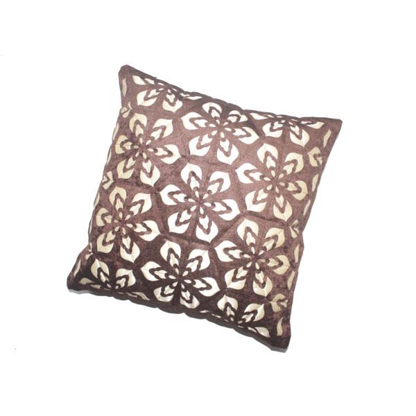 Floral Pattern Velvet Cushion Filled