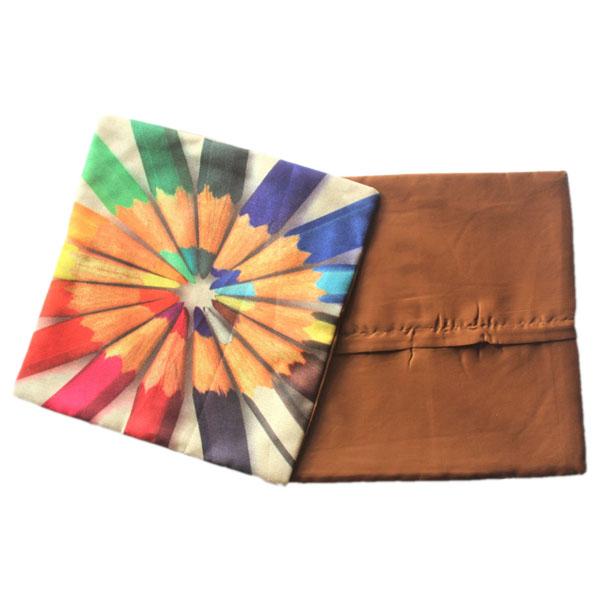 Decorative Jute Cushion Cover Pencil Design