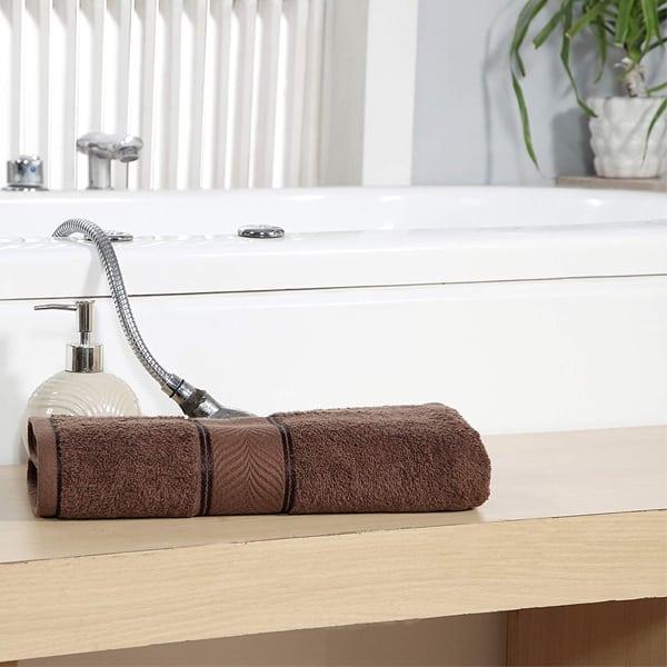 Cotton GSM 450 Elegance Bath Towel - Brown