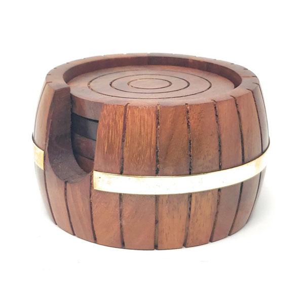 Designer Wooden Coaster or Cup Holder