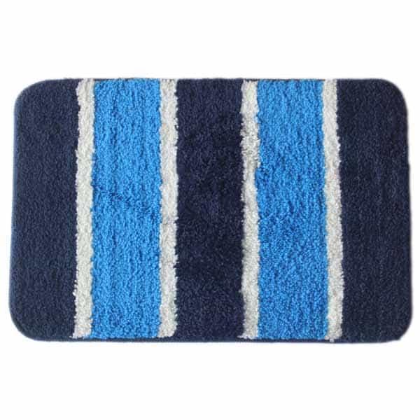 Soft Microfiber Cotton Anti-Slip Mat Blue