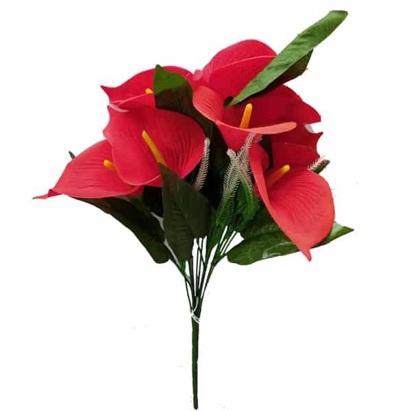 Decorative Red Calla Lily Artificial Flower