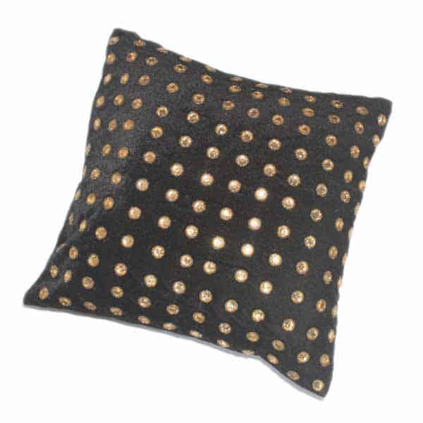 Filled Velvet Cushion with Amazing Stone Work