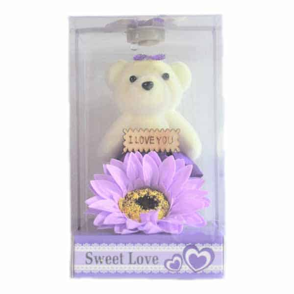 Flower with Teddy Love Box for Gifts