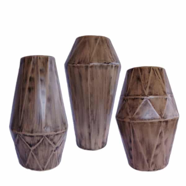 Decorative Metal Flower Vase Set Of 3