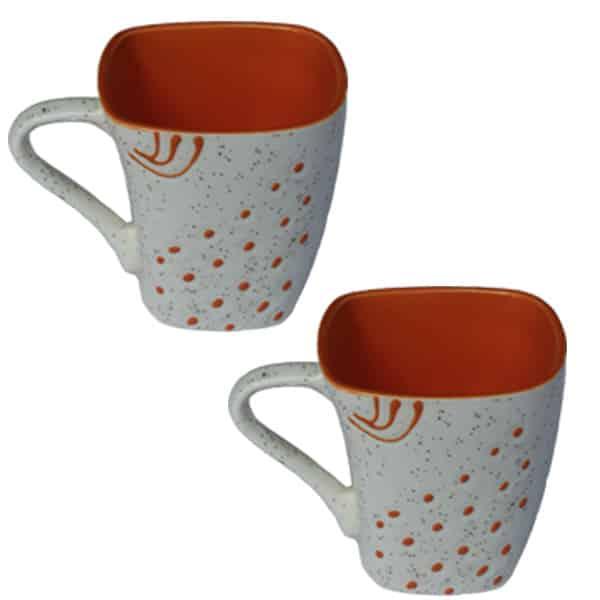 Square Shape Coffee Cup/Mug Set 6 Pcs