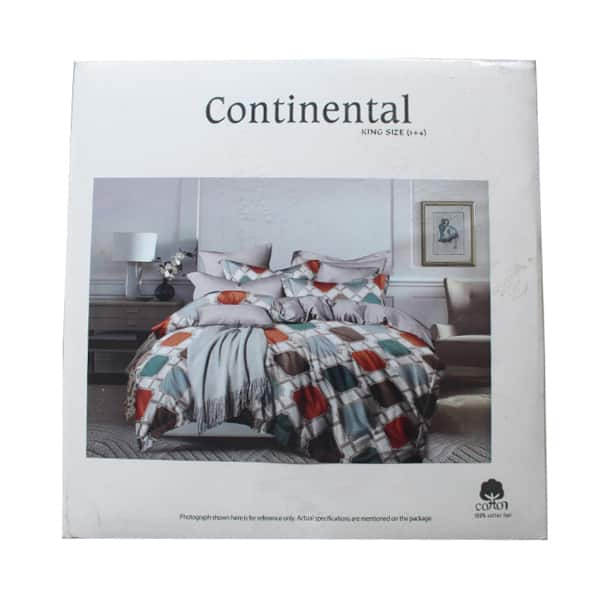 King Size Bedsheet Set With 4 Pillow Covers