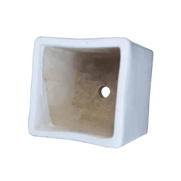 Ceramic White Square Planter
