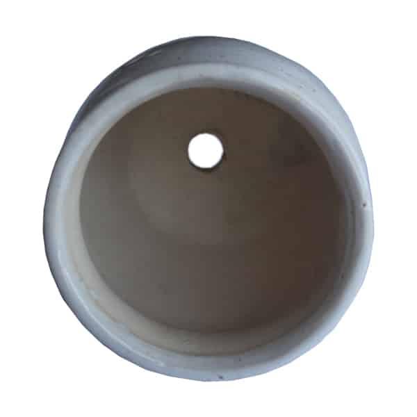 Matka Shaped White Ceramic Pot/ Planter