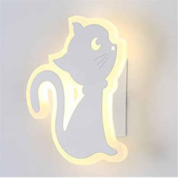 Kitten Shape White LED Wall Lamp