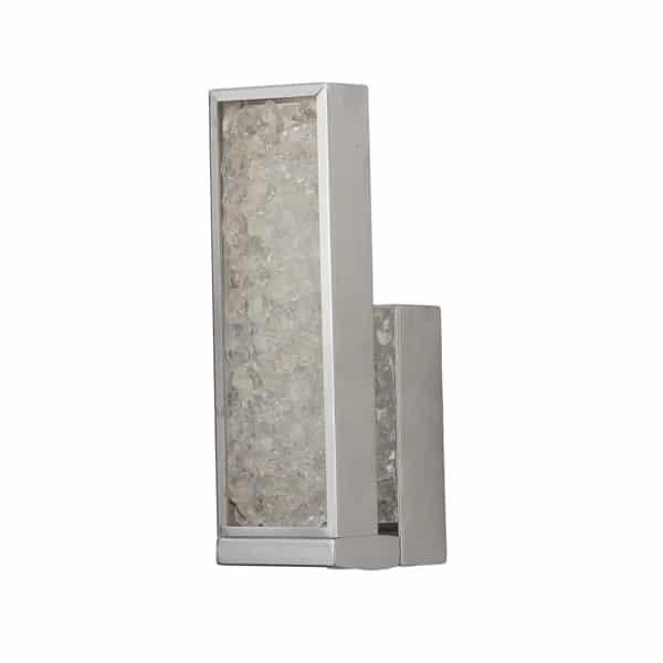 Steel Crystal Wall Light