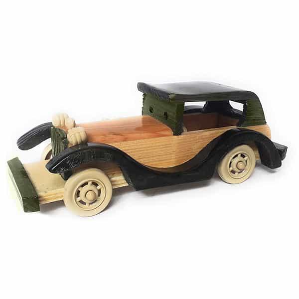 Wooden Showpiece Vintage Car