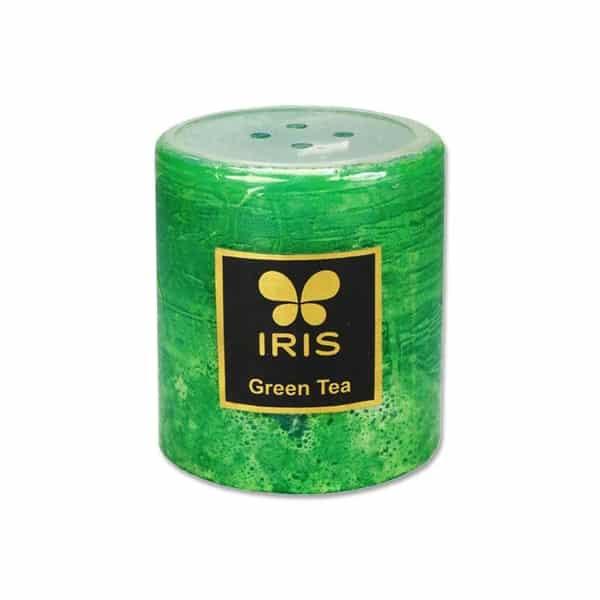 Pillar Candle Green Tea Fragrance (7.6 cm x 7.2 cm)