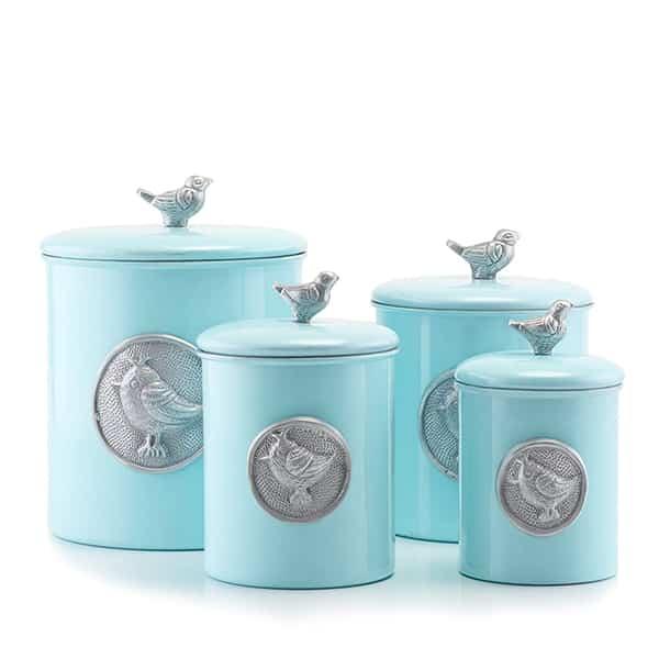 Blue Bird Canister Set Of 4