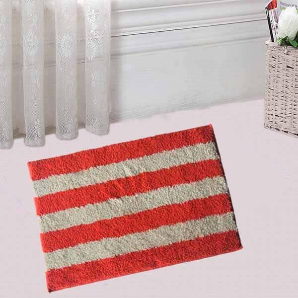 Super Soft Microfiber Cotton Anti-Slip Mat (Multicolor)
