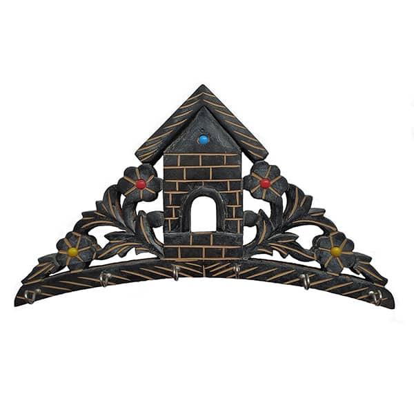 Wooden House Key Holder