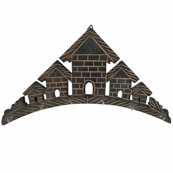 Wooden House Shaped Key Holder Set of 2